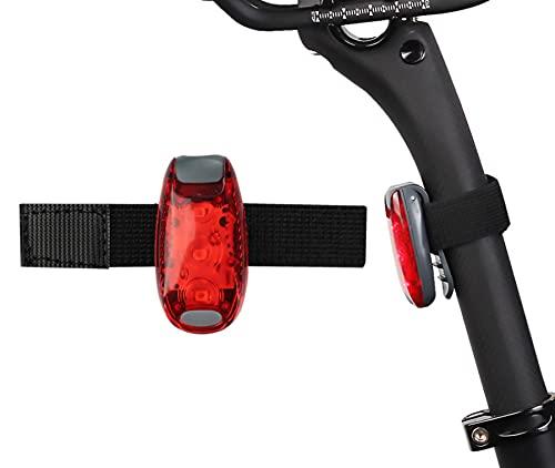 YCDtop Ciclismo Luz Trasera para Bicicleta Casco Impermeable Luz Trasera LED Batería incorporada Bicicleta de montaña Luces de Bicicleta de Carretera