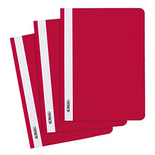 10 Herlitz Schnellhefter / DIN A5 / PP / Farbe: rot