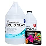 Deep Pour Epoxy Resin Crystal Clear LIQUID GLASS, SUPER COLORS PIGMENT KIT 2-4 inch 1.5 GL Resin Kit-Self Leveling, Clear Resin Epoxy, Perfect Epoxy Resin Table DIY, Deep Resin Molds, River Table, 2:1