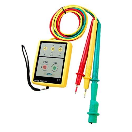 HQRP 3-Phasen Prüfgerät / Drehfeldmessgerät / Phasenprüfer / Drehfeld Prüfer / Drehfeldanzeiger / Elektrotester mit LED-Digitalanzeige