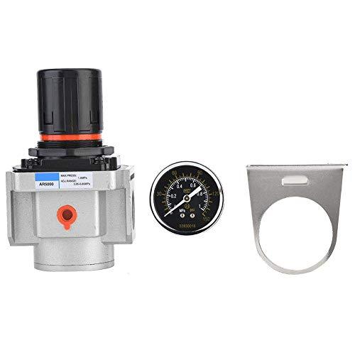 GUOCAO Druckminderer, AR5000-06 SMC Luftdruckregler Luftquelle Kompressor Druckregler Reduzierventil