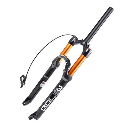 Bicicleta de Montaña MTB Horquilla Suspension Delantera 26' 27.5' 29' Rueda 1-1/8', Liberación Rápida Aleación de Aluminio Horquilla de Aire Viajar 120mm Amortiguador