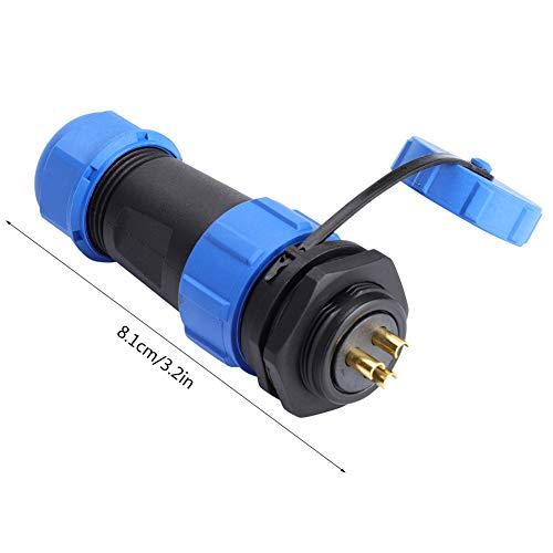 2pin, 3pin, 4pin, 5pin, 7pin, 9pin, 12pin, conector de aviación electromecánico Enchufe 8.1cm de plástico, metal 30A