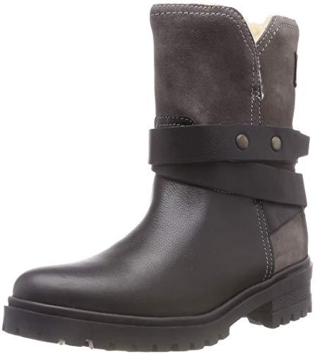 Hilfiger Denim Damen WARM Cleated Biker Boots, Schwarz (Black 990), 40 EU