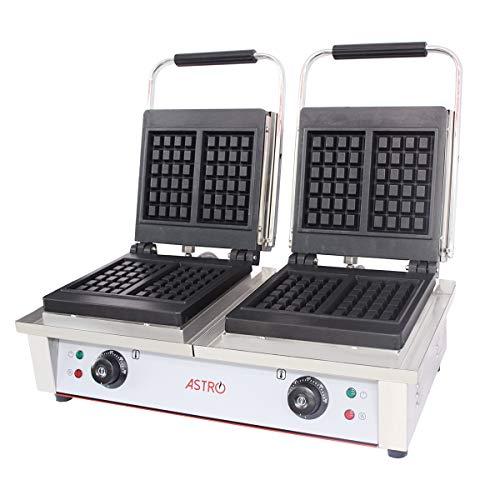 Astro professionele wafelijzer van gietijzer - L 62 x D 42 H 24 cm - wafelgrootte 10 x 16 cm - vermogen 2 x 2 kW
