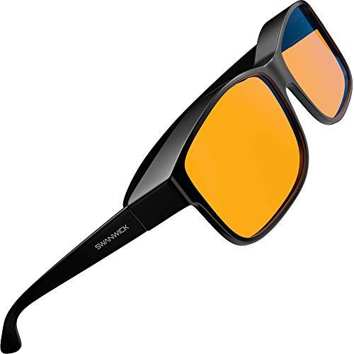 Swanwick: Fitover Night Swannies - Premium Blue Light Blocking Glasses - Regular -...