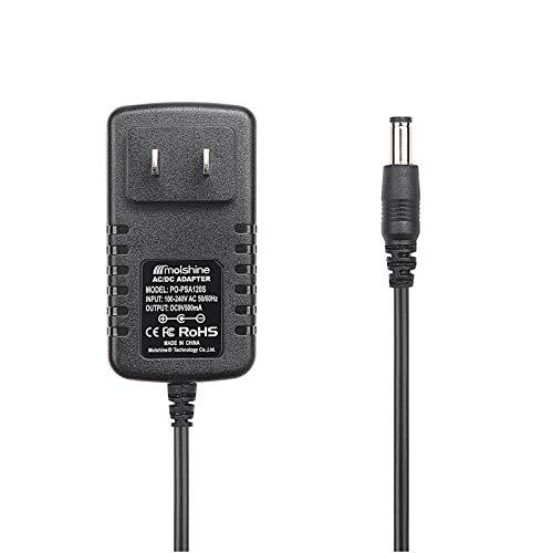 Molshine Compatible (6.6ft Cable) 9V AC DC PSA120S PSA-120S PSA120 PSA-120 Adapter Power Supply Rapid Charger for Boss ME-25 ME-50 ME-70 ME-80 DS-1 DD-20 GT-10 HM-2 RC-3 RC-30 RV-5 RV-6 TU-3 VE-20