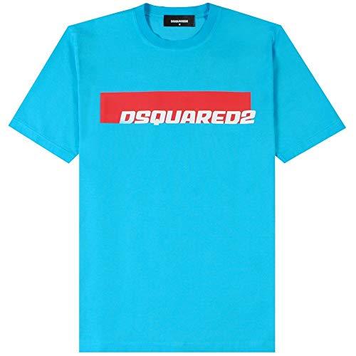 Photo of Dsquared2 Logo Print T-Shirt Small Light Blue