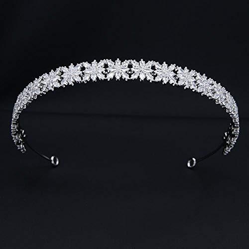 SlimpleStudio Aro de Pelo Diademas Cristales Hechos a Mano Diadema Nupcial Zirconia de la joyería Femenina Accesorios for el Cabello Diadema de Boda