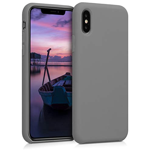 kwmobile Hülle kompatibel mit Apple iPhone XS - Handyhülle gummiert - Handy Hülle in Titanium Grey