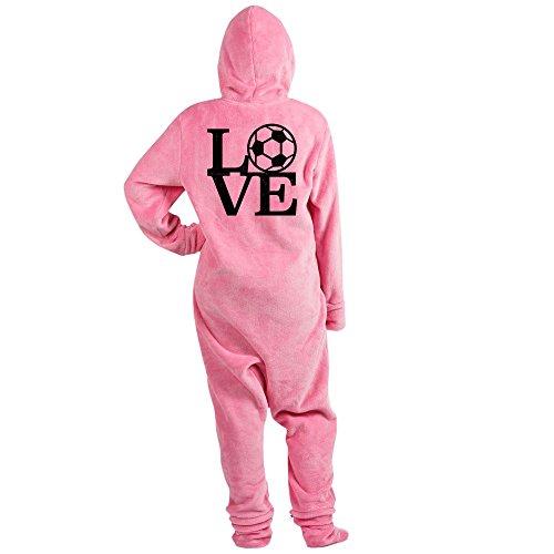 CafePress - Love Soccer - Novelty Footed Pajamas, Funny Adult One-Piece PJ Sleepwear