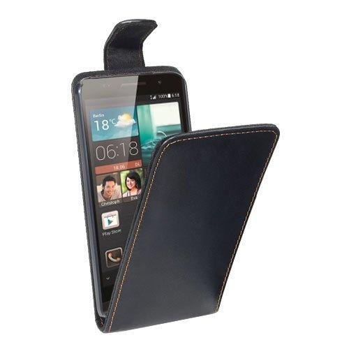PEDEA Flipcase Hülle für Huawei Ascend P6 Tasche, schwarz