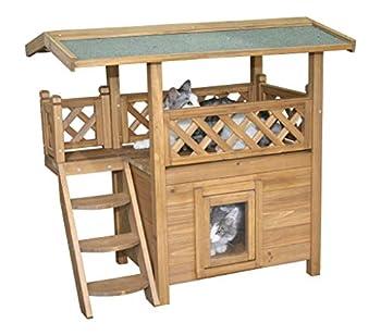 Kerbl Maisonnette pour Chat Lodge, 77x50x73 cm