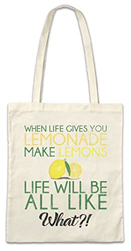 Urban Backwoods When Live Gives You Lemonade Hipster Bag Beutel Stofftasche Einkaufstasche