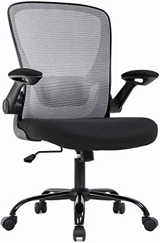 Mesh Computer Chair with Lumbar Support, High Back Mesh Desk Chair, Chair with Wheels, Ergonomic Office Desk Chair, Adjustable Office Chair (X)