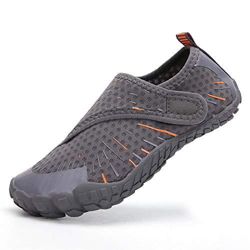 Zapatos de agua descalzo Zapatos para niños Zapatos de agua Zapatos de playa Zapatos de cinco dedos al aire libre para nadar y caminar para nadar en la playa al aire libre ( Color : Gris , Size : 38 )