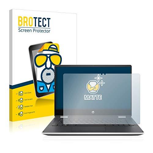 BROTECT Entspiegelungs-Schutzfolie kompatibel mit HP Pavilion x360 14-dh0545ng Displayschutz-Folie Matt, Anti-Reflex, Anti-Fingerprint