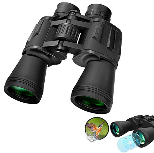 Powerful Binoculars for Adults 20x50 Durable Clear Binoculars for Bird Watching, Wildlife Watching, Travel, Hunting etc. Outdoor Sports Games or Other Concerts (Black 1 with Belt)