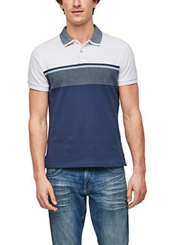 s.Oliver Herren 130.10.103.13.130.2057672 T-Shirt, White/Blue, XL