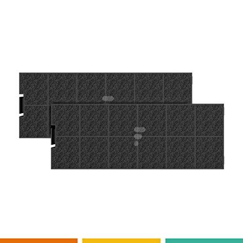 Fac FC40 - Juego de 2 filtros de carbón activo para campana extractora Candy ACM26 Airlux CR240 Tecnowind ACK62260 Whirlpool C00268402 Beko ACK62260 Samsung EBD Rosieres acka0002