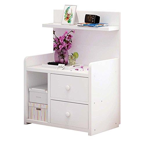 Table de chevet JCOCO Mini à Base de Bois, avec tiroir et étagère de Rangement, de Stockage de casier de Chambre à Coucher (Couleur : #2, Taille : 42.4 * 26.7 * 60cm)