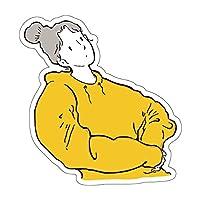 スマホステッカー スマホシール ステッカー シール シンプル おしゃれ かわいい 線画 デザイン 防水 耐水 スマホアクセサリー 携帯 パソコン 日記 手帳 スーツケース SS2-07 (パターン1, 縦60mm)