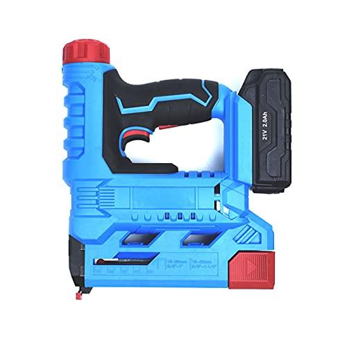 Clavadora y grapadora pesada sin cable 2 en 1, pistola de clavos inalámbrica de doble uso 21V para carpintería de muebles