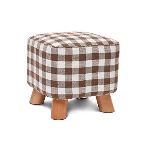 Levecon voetensteun, vierkant, van hout, zitzak, gevoerd, voetenbank met 4 poten van beuken, voor woonkamer, slaapkamer, picknick in de open lucht