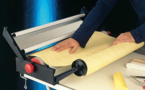 Profi Kleistergerät | Kleister-Gerät für Tapeten mit maximal 60 cm Bahnbreite | Tapeziermaschine mit Rollenhalter | Tapeziergerät Kleister-Maschine | Tapetenkleistergerät Tapezierbedarf