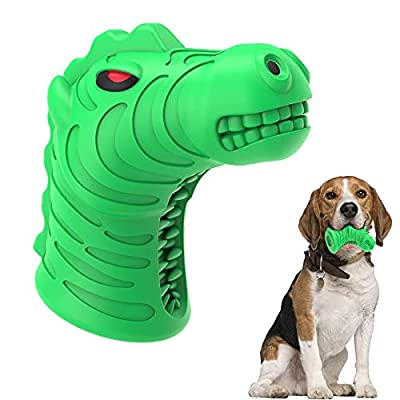 Amazon - 50% Off on Dog Chew Toy for Super Chewer Dogs Puppy Zebra Head Shaped Squeaky Toys