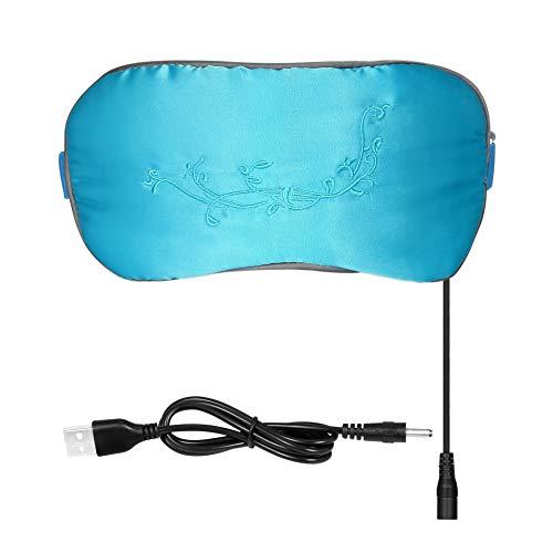 NINGXUE Slaap oog masker, stoom blokkeren bril USB verwarming zijde comfortabel oog masker, effectief verlichten vermoeidheid van het oog