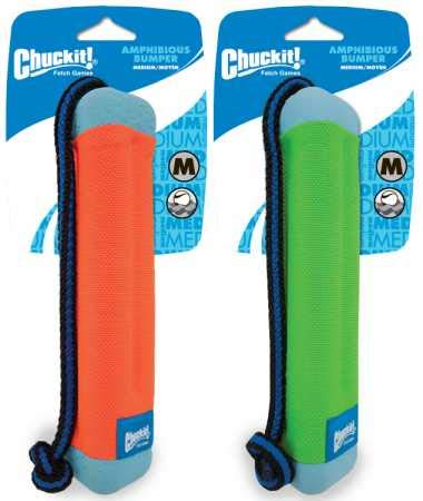 Chuckit! Amphibious Bumper Fetch and Float Toy 2 Sizes Assorted Colors