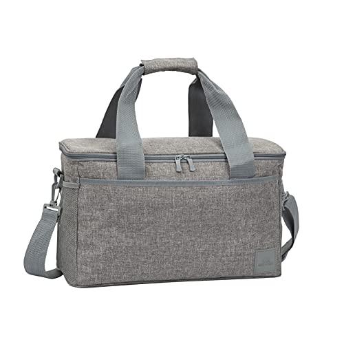 RIVACASE Kühltasche Faltbar - Faltbare Isoliertasche Einkauf - Picknicktasche Kühltasche - Lunch Cooler Bag - Faltbarer Einkaufskorb mit Kühlfunktion für Speisen und Getränke / 5726 grau (23 L)