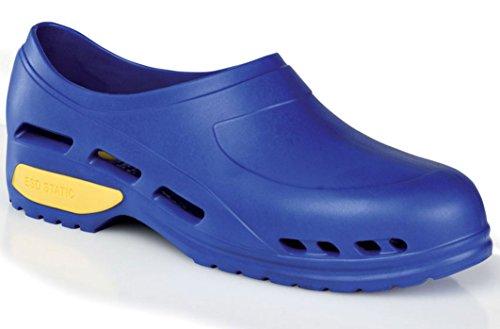 Gima - Zapato de trabajo profesional ultraligero, aireado, anatómico, antichoque, antideslizante, antiestático, sin látex, color azul, talla EU 37, 1 par.