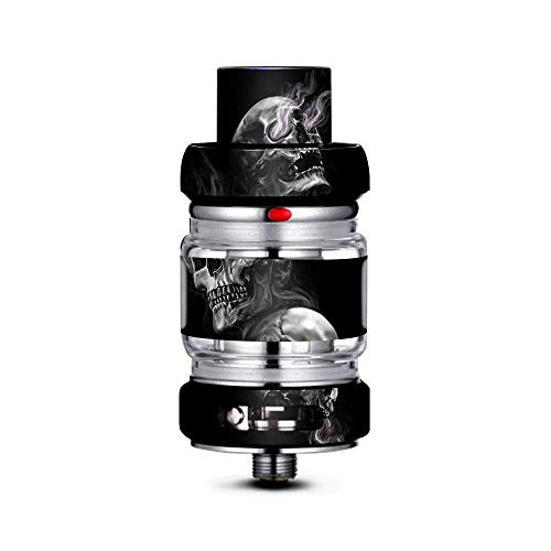 IT'S A SKIN Decal Vinyl Wrap Compatible with FreeMax Mesh Pro Tank/Glowing Skulls in Smoke