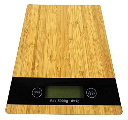 M3 Decorium Escala de Cocina Digital 11lb / 5kg Plataforma y retroiluminado LCD Slim Design Scales Balanzas de cocción - Fácilmente Limpio de bambú (Color : 200MM|A)