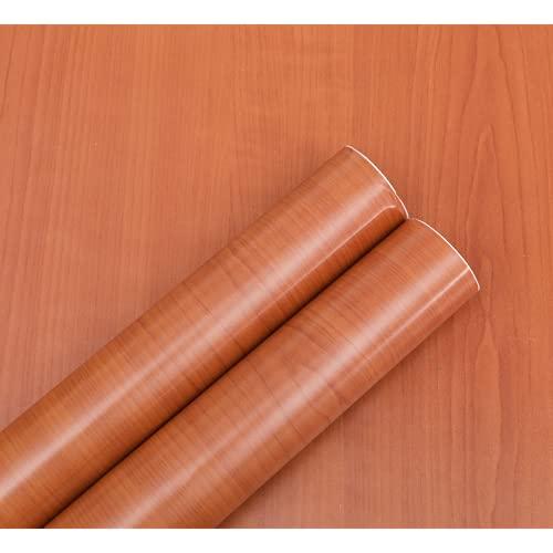 Muebles Pegatina de grano de madera con volteos Dormitorio Dormitorio Driso de escritorio Pegatinas de madera Etiquetas de pantalla impermeable Moisture Wallpaper Wallpaper