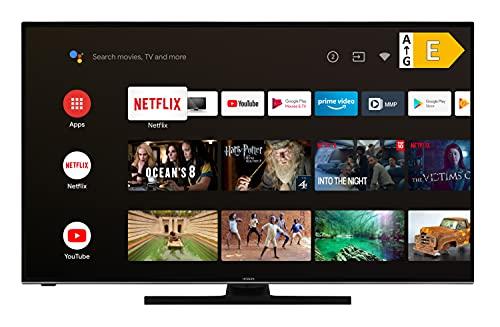 Hitachi U58KA6150 147 cm / 58 Zoll Fernseher (Android 9.0 Smart TV inkl. Prime Video/Netflix/YouTube, 4K UHD + HDR 10, Bluetooth, PVR-Ready, Triple-Tuner) [Modelljahr 2020] …