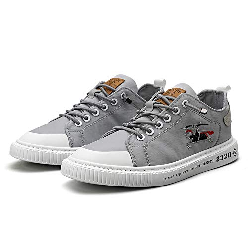 DTMZZ Sommer Herrenschuhe 2020 Neue Segeltuchschuhe atmungsaktiv lässig weiße Schuhe Schuhe dünne EIS Seide Schuhe Herren wild