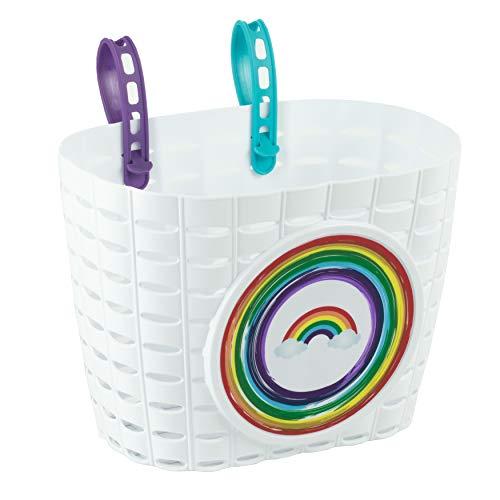 Widek Mädchen HW2060RB Regenbogen-Fahrradkorb für Kinder, weiß, Einheitsgröße