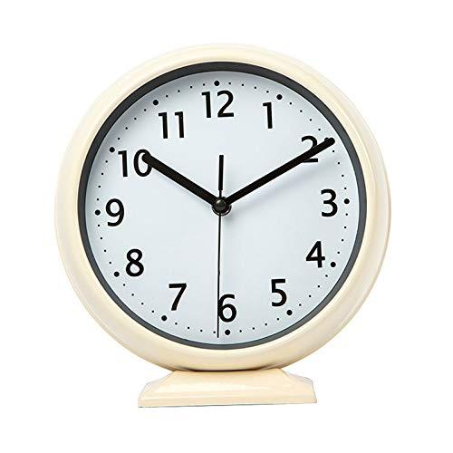 Reloj de Péndulo Funcionamiento de la batería del reloj moderno Reloj sin silenciar Reloj de silencio Reloj de silencio creativo Reloj de mesa de metal simple Reloj de sesión Decorativo Reloj de Pared