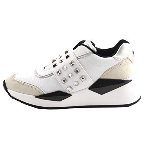 Scarpe da Donna Guess Sneaker Running Senza Lacci Mod. Tinsel in Ecopelle Bianco D20GU55