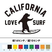 カリフォルニア ラブサーフ 熊 ステッカー (白, 14)
