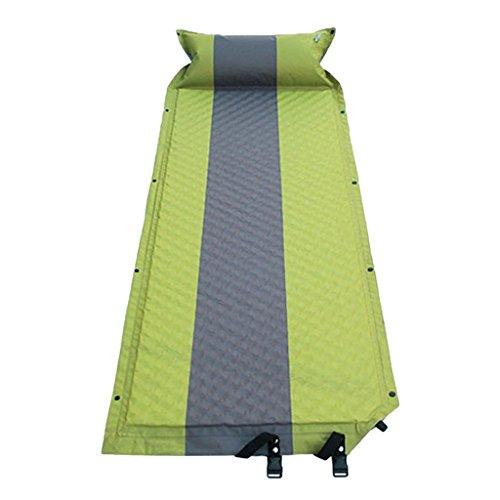 T TOOYFUL Campingbett Klappbar Schlafmatte Isomatte Selbstaufblasend Trekkingmatte aus PVC, 2 Farbe Auswahl - Grün