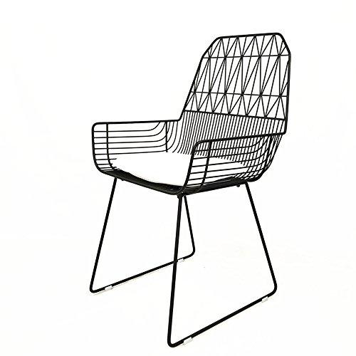 KFXL yizi Taburete Hollow Wire Chair Silla de Comedor de Hierro Modern Lounge Chair 2 Color Opcional (Color : A)