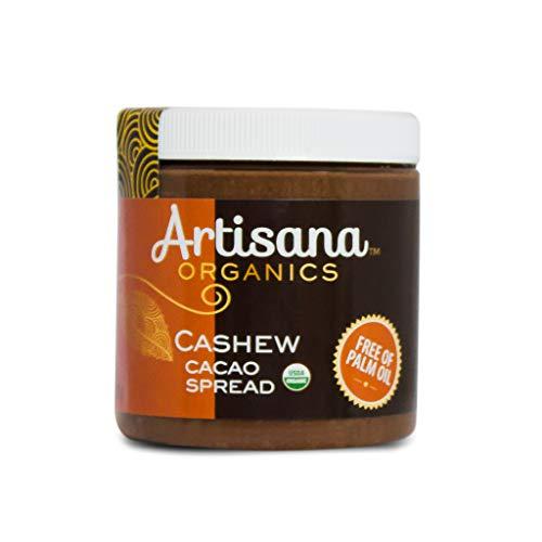 Artisana Organics Cashew Cacao Spread, 9.5oz   Sweetened with Coconut Sugar