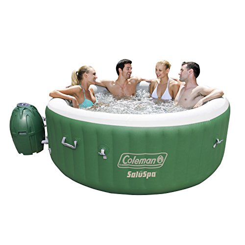 Coleman SaluSpa Inflatable Hot Tub Spa, Green & White