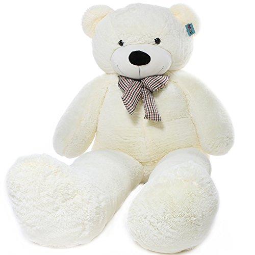 Joyfay großer Teddybär Riesiger Plüschbär Stofftier XXL Riesen Teddy (230 cm, Weiß), Weiche Geschenk Für Kinder Alters Geburtstag Hochzeit Valentinstag Weihnachten