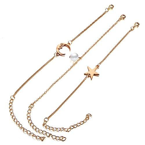 LUOEM 3pcs Femmes Fille Bracelet Chaîne Bracelet Bracelet...