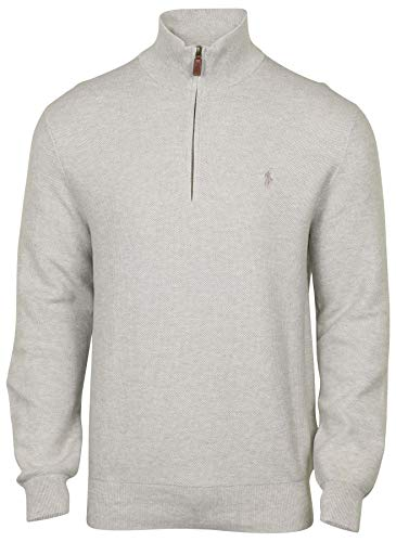 Men Grey Polo Sweater